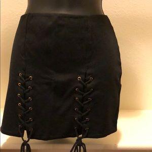 Forever 21 open cut mini skirt